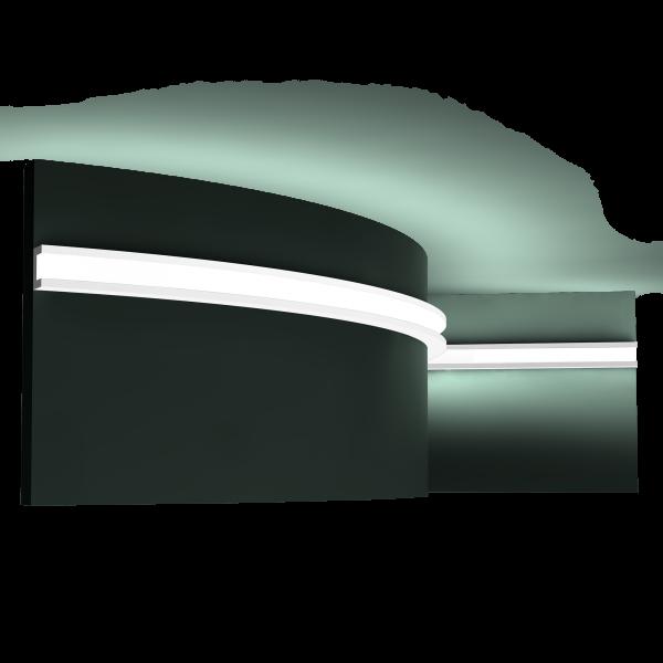 Lichtleiste CX190F U-PROFILE ORAC DECOR Duropolymer / AXXENT