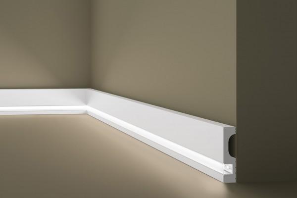 Sockelleiste IL11 Lichtleiste für indirekte Beleuchtung WALLSTYL®