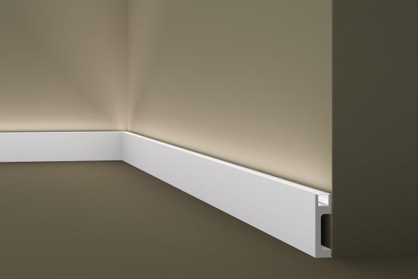 Sockelleiste IL10 Lichtleiste für indirekte Beleuchtung WALLSTYL®