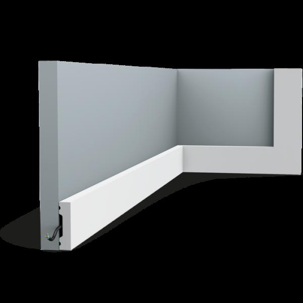 Sockelleiste SX162F SQUARE ORAC DECOR Duropolymer / AXXENT