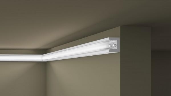 Lichtleiste IL12 WALLSYL® für indirekte Beleuchtung Stuckleiste