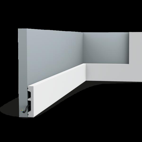 Sockelleiste SX157 SQUARE ORAC DECOR Stuckleiste Multifunktional Duropolymer / AXXENT
