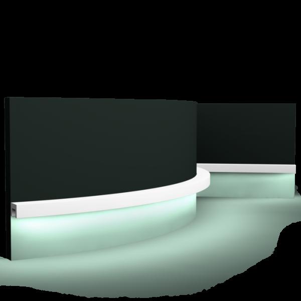 Lichtsockelleiste CX190F U-PROFILE ORAC DECOR Duropolymer / AXXENT
