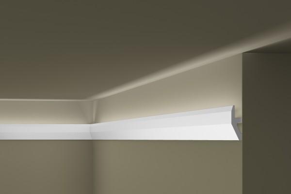 Lichtleiste W1 WALLSTYL® für indirekte Beleuchtung Stuckleiste